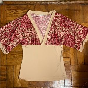 2 for $15 Charlotte Russe red v neck blouse